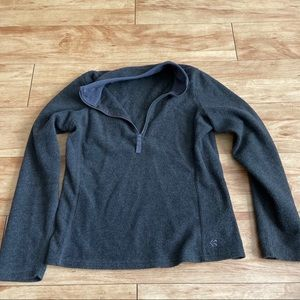Dark gray old navy fleece sweater